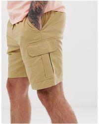 Pull&Bear – Cargo-Shorts - Natur