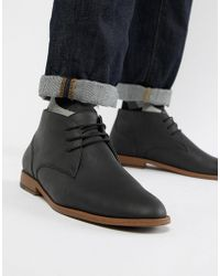 New Look - Faux Leather Chukka Boot In Black - Lyst