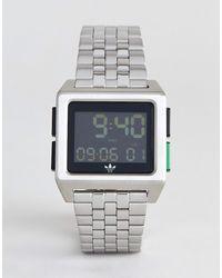 adidas Originals Z01 Archive - Montre-bracelet digitale - Argenté - Métallisé