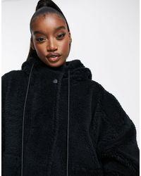 Varley Montalvo Hooded Faux Shearling Jacket - Black