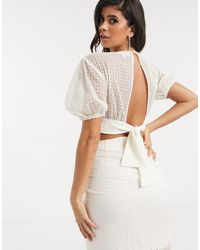 Significant Other Malia Broderie Blouse - White