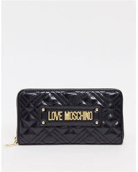 Love Moschino - Portafoglio trapuntato nero - Lyst
