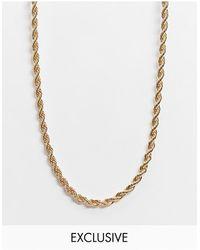 Vero Moda Exclusivité - - Collier chaîne façon corde - Métallisé