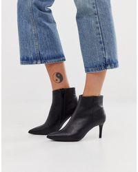 New Look Laarzen Met Kleine Lage Hak En Slangenprint In Zwart
