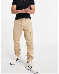 Tom Tailor Loose Fit Cargo jogger - Natural