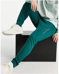 Tommy Hilfiger - Зеленые Базовые Джоггеры С Манжетами И Маленьким Логотипом -зеленый Цвет - Lyst