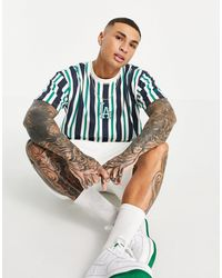 KTZ - Mlb La Dodgers Oversized T-shirt With Green And Blue Stripes - Lyst