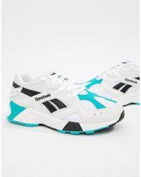 Reebok Teal And Black Aztrek Sneakers - Blue