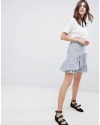 Esprit - Stripe And Flippy Skirt - Lyst