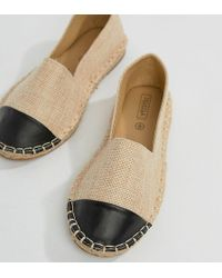 Truffle Collection - Wide Fit Toecap Espadrille - Lyst