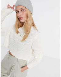 AX Paris Кремовый Укороченный Джемпер -белый - Многоцветный
