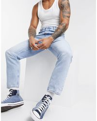 ASOS Relaxed Tapered Jeans - Blue