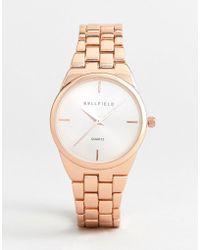 Bellfield - Rose Gold Plated Watch - Lyst