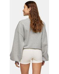 TOPSHOP - Shorts color crema - Lyst