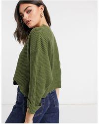 AX Paris Укороченный Джемпер Свободного Кроя В Цвете Хаки -зеленый Цвет
