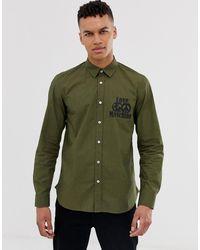 Love Moschino Chemise à manches longues avec logo - Kaki - Vert