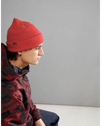 Volcom - Snow Sweep Lined Beanie In Orange - Lyst
