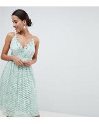 Boohoo - Cami Lace Midi Dress - Lyst