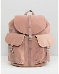 Herschel Supply Co. - Herschel Dawson Pink Velvet Backpack - Lyst ed68c1f1b0d9a