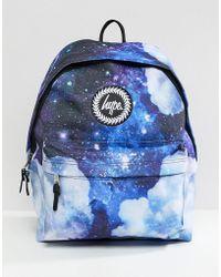 Hype Backpack In Space Cloud Print - Blue