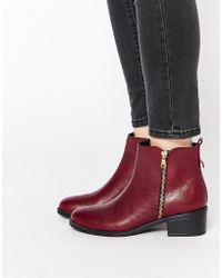 Oasis Asis Zip Detail Ankle Boots - Black