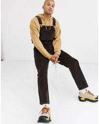 ASOS Relaxed Dungarees - Brown