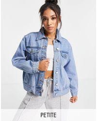 Missguided Синяя Выбеленная Oversized Джинсовая Куртка -голубой - Синий