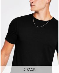 River Island Muscle Fit T-shirt - Black