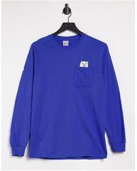 RIPNDIP Ripndip Lord Nermal Pocket Long Sleeve T-shirt - Blue