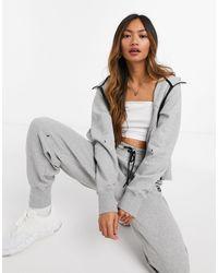 Nike Sudadera con capucha gris