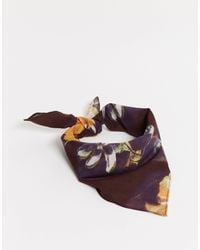 ASOS Bandana en estampado floral oscuro - Negro