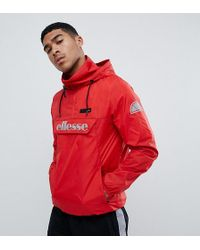 Ellesse - Overhead Jacket With Reflective Logo In Red - Lyst