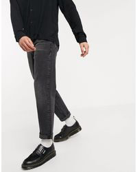 ASOS Straight Crop Jeans - Black