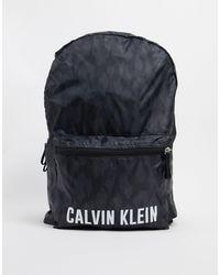Calvin Klein Performance – Backpack mit Logo, bedruckt - Schwarz