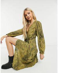 Vila Wrap Midi Dress - Brown