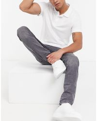 SELECTED Skinny Jeans Organic Cotton - Grey