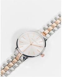 Bellfield Tweekleurig Horloge Met Schakelband - Metallic