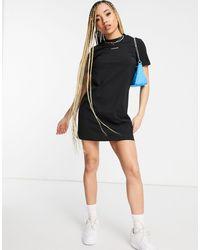 Calvin Klein Vestito camicia con logo nero