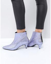 Gestuz - Purple Metallic Boot - Lyst