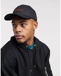 ASOS – e Baseball-Cap mit gesticktem Schriftzug - Schwarz