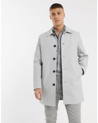 ASOS Single Breasted Trench Coat - Gray