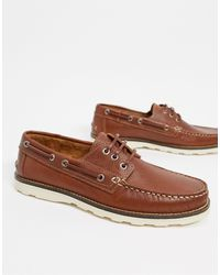 River Island Leather Boat Shoes - Brown