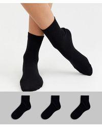 ASOS Confezione da 3 paia di calzini - Nero