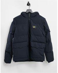 Lyle & Scott 2-in-1 Ripstop Puffer Jacket - Blue