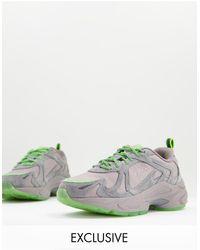 Fila Heroics - sneakers grigie e verde fluo - Grigio