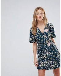 Band Of Gypsies - Floral Wrap Dress - Lyst