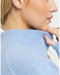 Whistles Star Earrings - Grey