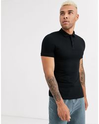 ASOS - Organic Muscle Fit Jersey Polo - Lyst