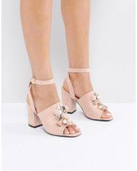 Park Lane - Embellished Heel Sandal - Lyst