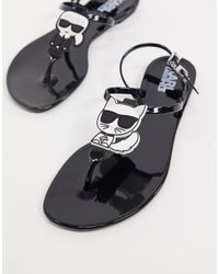 Karl Lagerfeld - Iconic - Sandales en caoutchouc - Lyst